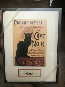 Cavallini & Co. Paper.  Thank You Notes Black Cat Merci Chat Noir Prochainement