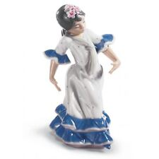 Lladro Juanita Flamenco Dancer Girl Figurine. Blue 01005193