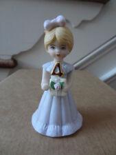 "Vintage Enesco Birthday ""Growing Up Girls"" 4 Year Blonde Doll Figurine 1981 Euc"