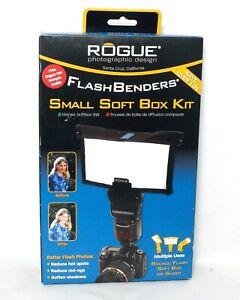 Rogue FlashBenders Small Soft Box Kit Bounce Soft Snoot SLR Film DSLR Digital