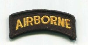 Standard Color 101st Airborne Division Tab Patch VELCRO® BRAND Hook Fastener