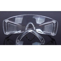New Clear Lens Protective Safety Glasses Eye Protection Goggles Lab Work M&C