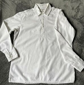 DKNY Off White Linen Top, Men's, Size Small