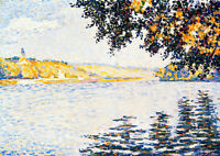 View of the Seine at Herblay 75cm x 53.4cm by Paul Signac Quality Canvas Print