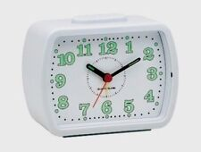 CHAMPION BELL ALARM CLOCK BOLD ARABIC NUMBERS WHITE DIAL BA309 WH NEW