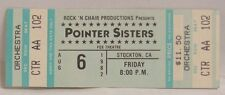The Pointer Sisters - Vintage 1976 Unused Whole Concert Ticket