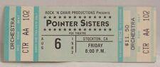 THE POINTER SISTERS - VINTAGE 1976 UNUSED WHOLE CONCERT TICKET