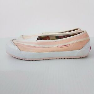 Ted Baker Slip On Canvas Shoes Pink White Comfort Flats Sneakers Boat Shoe SZ 37