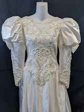 VINTAGE MOONLIGHT WEDDING DRESS SIZE 14 FITS LIKE A 10 1990