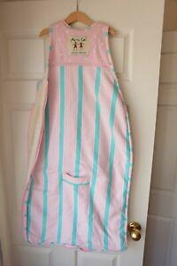 Merino Kids Sherpa Weight - Sleeping Bag - Pink and green 2-4 yrs GUC
