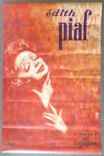 EDITH PIAF Superbe Affiche ancienne Vintage Poster DOUGLAS Disques Columbia