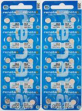 25 pcs 364 Renata Watch Batteries SR621SW FREE SHIP 0% MERCURY