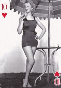 "IDA  LUPINO - 2007 "" world  WAR II "" glamour girls "" PIN-UP playing  card"