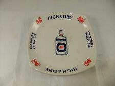 Vintage Booth's High & Dry Gin Large Nut Dish or Ashtray Liquor Advertising