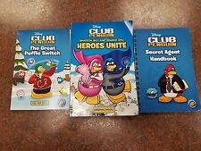 Disney's CLUB PENGUIN - lot of 3 books - see the photos for titles, paperback