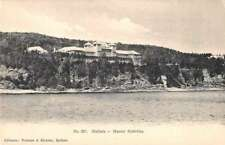 Malbaie Quebec Canada Manoir Richelieu from the Water Antique Postcard J77172