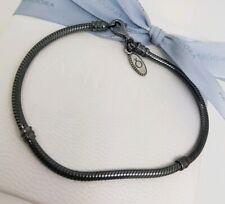 b8de2fbf5 Authentic Pandora Oxidized Lobster Clasp 21cm Charm Bracelet NEW 59700-21OX