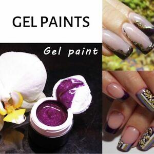 Purple Gel Violet Painting gel  for Nail Art Gel Paint like Emi