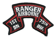 "Hook & Loop - Old Style US 1st Ranger Battalion Ranger Scroll - 3 1/4"" x 2 1/8"""