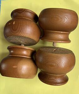wooden bun furniture feet