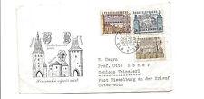1966 Czechoslovakia cover to Austria   architecture