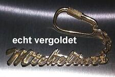 EDLER SCHLÜSSELANHÄNGER MICHELINE ECHT VERGOLDET GOLD NAME KEYCHAIN KEYRING NEU
