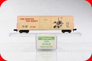 N Scale THE BOSTON TEA PARTY / American Revolution - 50' Box Car - Bev-Bel 10034