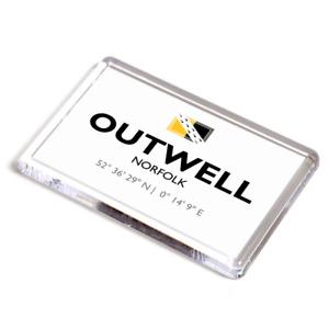 FRIDGE MAGNET - Outwell, Norfolk - Lat/Long TF5103