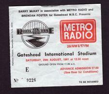 Original Rare 1981 U2 Elvis Costello Concert Ticket Stub October Tour Gateshead