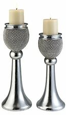 Ok Lighting Ok-4240C Pearl Stone Candleholder Set Set Of 2 Silver New