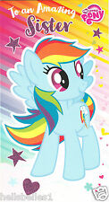 "NEW OFFICIAL MY LITTLE PONY ""SISTER"" BIRTHDAY CARD *FREE 1ST CLASS P&P"