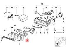 Genuine BMW E38 Sedan Left Lamp Lens Support OEM 63128381455
