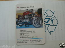 14-MOTOREN 1B MUNCH 4 1200 TTS-E KWARTET KAART MOTORCYCLES, QUARTETT
