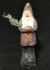 "Belsnickle 1920's Vintage German Christmas Santa Saint Nickolas Copper Purple 6"""