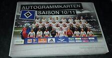 Hamburger SV Autogrammkartensatz 2010/11