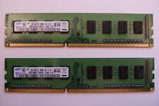 2x 2GB Samsung M378B5773DH0-CH9 4GB 1333MHz DDR3 RAM PC-10600U PC RAM Kit