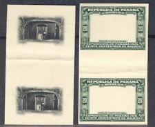 Panama 1915, 20c Arch, Proofs center+frame in Gutter Pairs, archival,Rrr #212