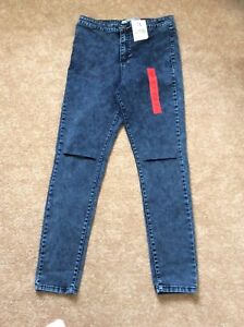 BNWT Denim Co Super High Waist skinny Ripped Knee Jeans Size 16