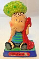 Vintage Peanuts Linus I'm Thinking of You Figurine Tree Red Blanket Sucking Thum