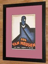 """Art Deco enmarcado impresión-Col Van Heusen -12"""" 16"""", Art Deco Arte De Pared, loupot"""