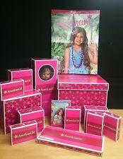 American Girl Kanani Doll & her Aloha World LOT - All in original boxes(Retired)