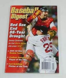 Baseball Digest RED SOX END 86 YEAR DROUGHT World Series cover magazine 2005