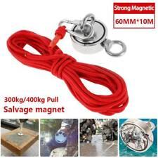 Récupération 80 mm Aimant la Pêche Détecteur de métal 10 Mètre Deluxe Câble Kit 60 kg Pull