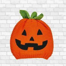 Carter's Infant Pumpkin Face Jack-O-Lantern Beanie  - Size 0-3 Months