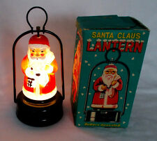 VINTAGE AMICO BATTERY LIGHT UP SANTA CLAUS MINI LANTERN WITH BOX WORKS 66090