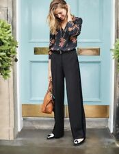 Boden Charlbury Wide Leg Trousers Black Size UK 16R rrp £98 DH172 DD 01