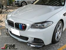 VOS Type Carbon Fiber Front Bumper Add Lip For 2011+ BMW 528i 535i 550i M sports