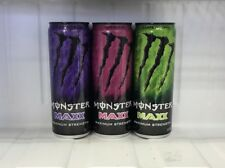 Monster Energy Drink Maxx Maximum Strength Super Dry, Solaris & Eclipse 12oz Can