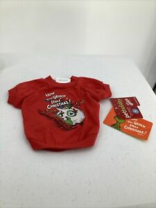 Dog Christmas Shirt Dr Suess How The Grinch Stole Christmas Size Small Red