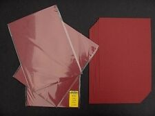 10x Tonkarton Kartenkarton Kartenpapier bordeaux-rot A4 220g